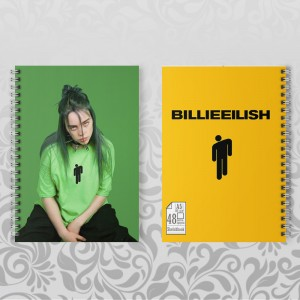 Скетчбук А5 48 л. 150 гр.м Billie Eilish 014